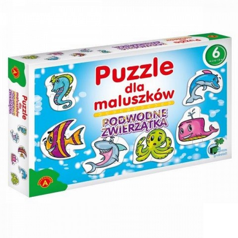 Puzzle dla maluszków - Podwodne zwierzątka