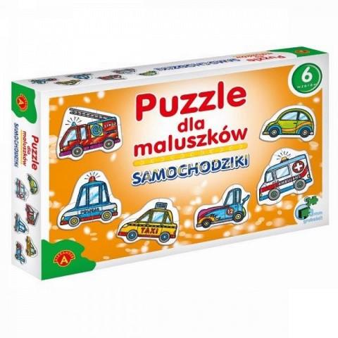 Samochodziki - puzzle dla maluszków
