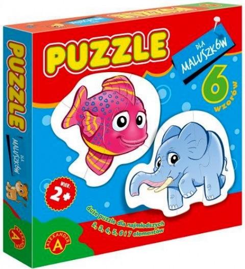 Puzzle dla maluszków ryba + słoń