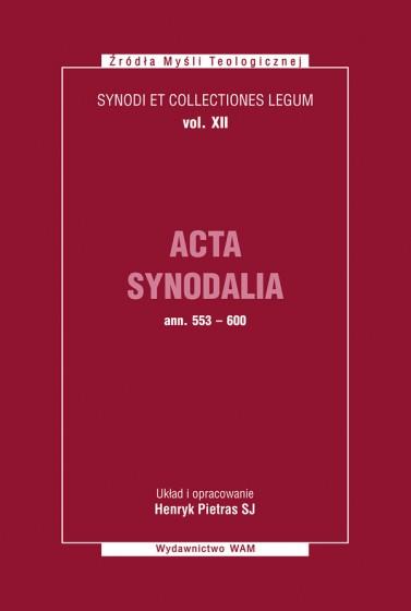 Acta Synodalia - od 553 do 600 roku