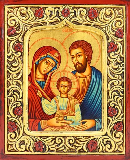 Ikona Święta Rodzina rama, duża