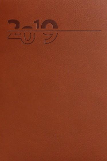 Terminarz A5 Lux Złocony brązowy