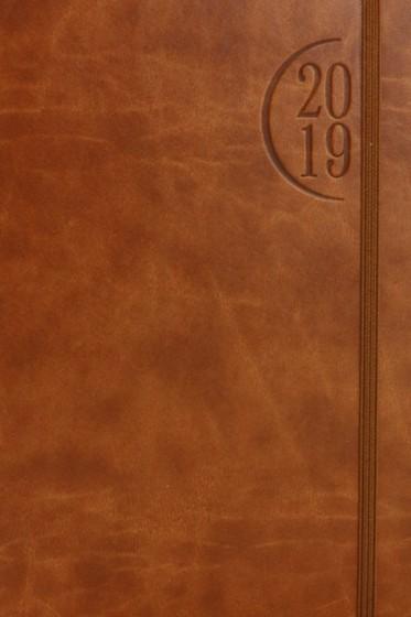 Terminarz A5 Flex brązowy