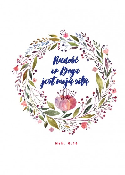 Radość w Bogu jest moją siłą. Notes na spirali