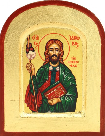 Ikona Święty Jakub Apostoł bardzo mała