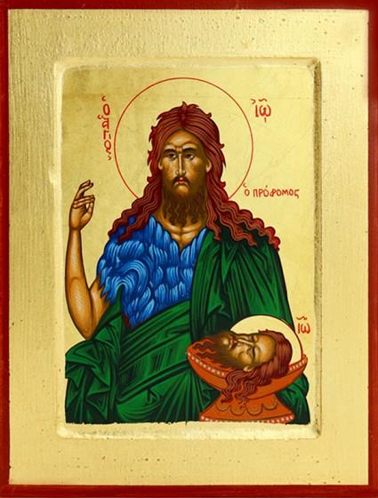 Ikona Jan Chrzciciel średnia