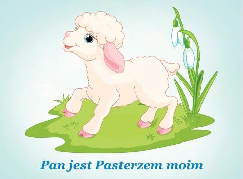 Pan jest Pasterzem moim podkładka owieczka