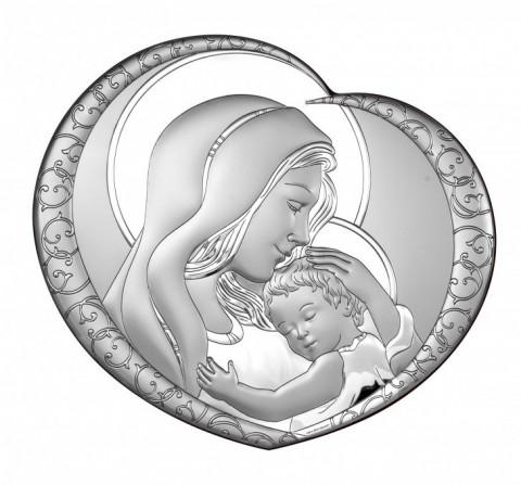 Madonna z Dzieciątkiem obraz srebrny 6563/5