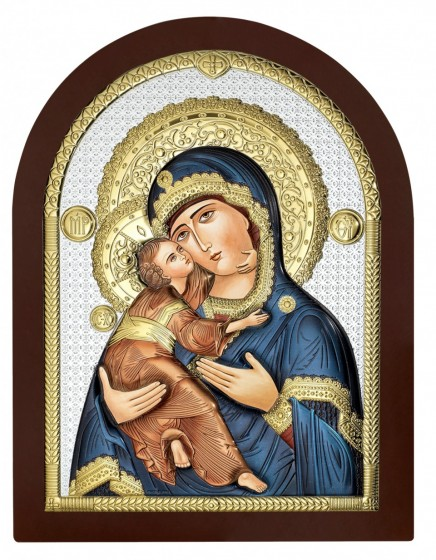 Madonna z Dzieciątkiem obraz srebrny AE0802/4D