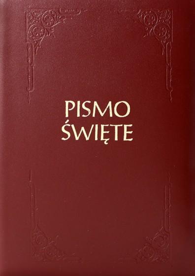 Pismo Święte Starego i Nowego Testamentu zamek małe bordo