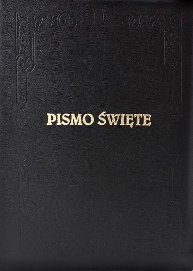 Pismo Święte Starego i Nowego Testamentu / zamek pagin. duże czarne