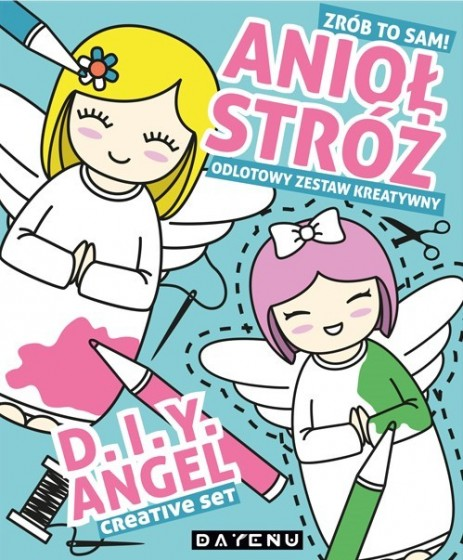 Anioł stróż z blond włosami
