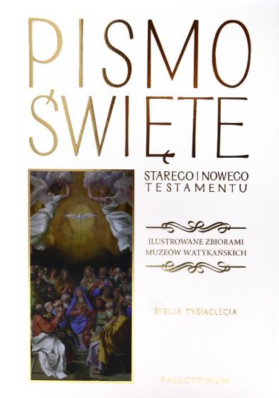 Pismo Święte białe Ilustrowane zbiorami Muzeów Watykańskich