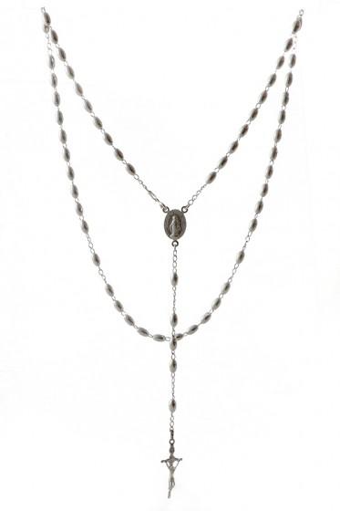 Różaniec srebrny rgrb045ovl4