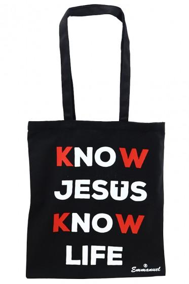 Know Jesus Know Life - torba czarna