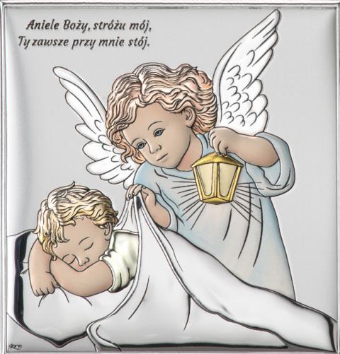 Aniołek z latarenką nad dzieciątkiem Obraz DS15/2C