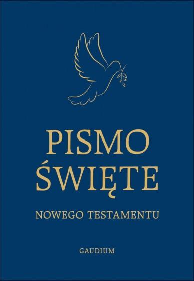 Pismo Święte Nowego Testamentu duża czcionka granatowe