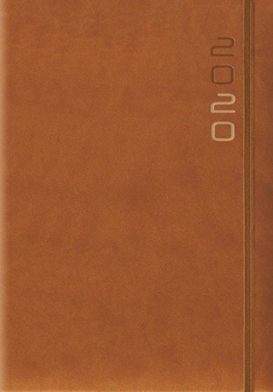 Terminarz A5 Flex brązowy z gumką