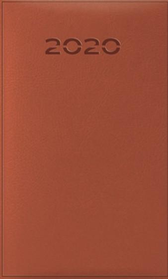 Terminarz B6 Lux Złocony brązowy