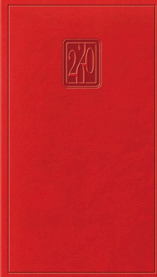 Terminarz tygodniowy Print czerwony