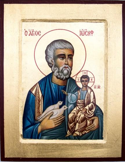 Ikona Święty Józef średnia