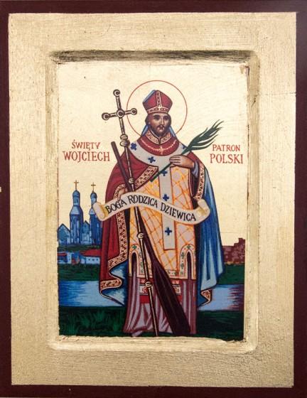 Ikona Święty Wojciech mała
