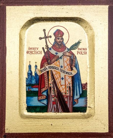 Ikona Święty Wojciech bardzo mała