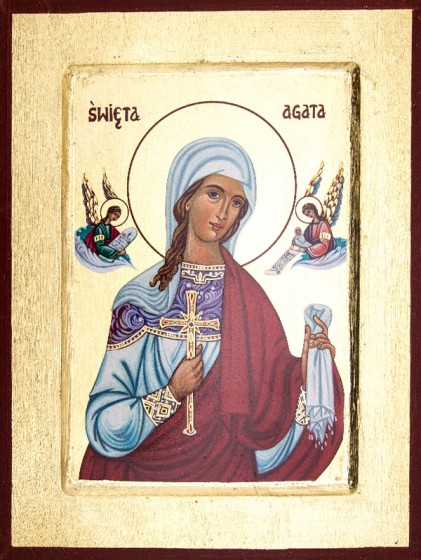 Ikona Święta Agata średnia