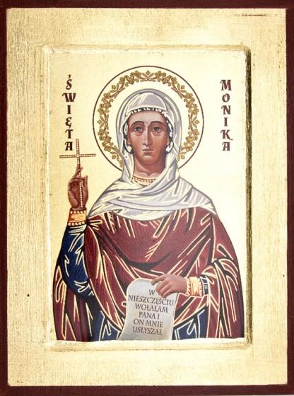 Ikona Święta Monika średnia