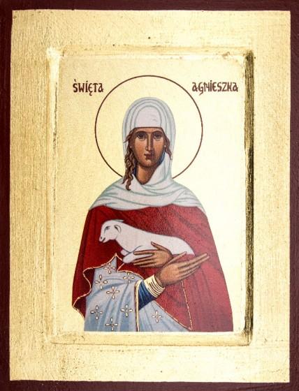 Ikona Święta Agnieszka mała
