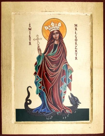 Ikona Święta Małgorzata średnia