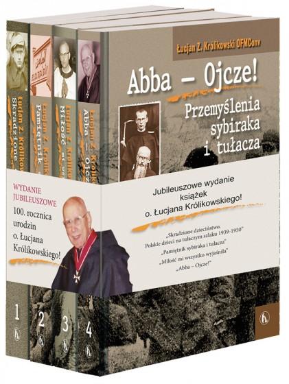 Jubileuszowy zestaw książek o. Łucjana Królikowskiego
