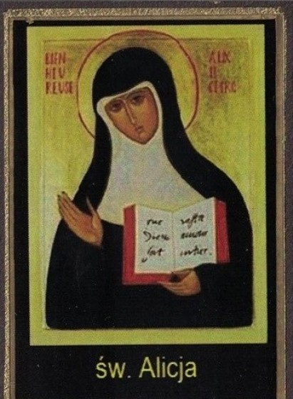 Ikona Twojego Patrona - św. Alicja