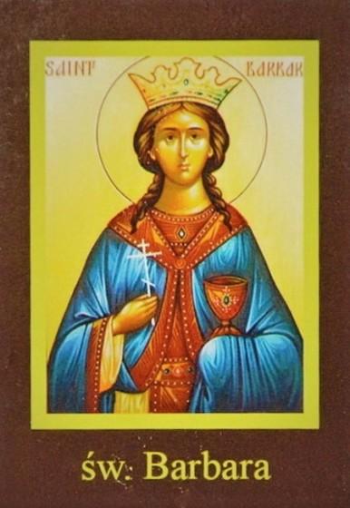 Ikona Twojego Patrona - św. Barbara