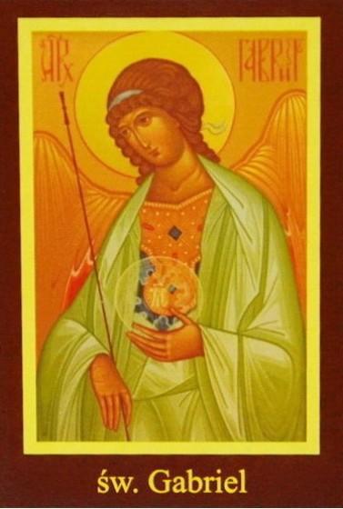 Ikona Twojego Patrona - św. Gabriel
