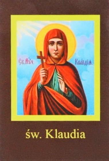 Ikona Twojego Patrona - św. Klaudia