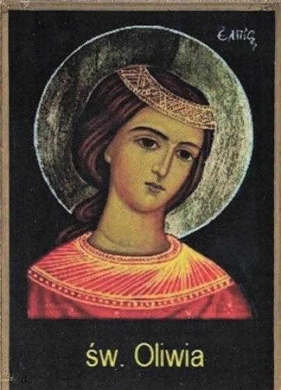 Ikona Twojego Patrona - św. Oliwia z Brescii