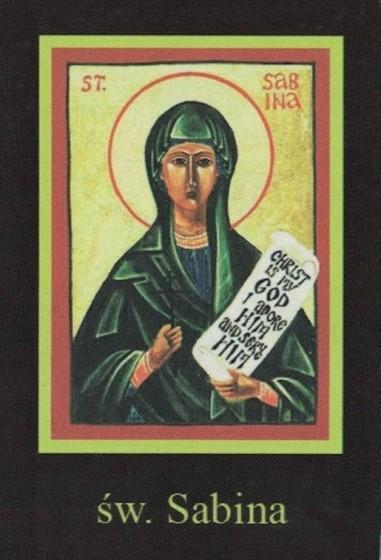 Ikona Twojego Patrona - św. Sabina