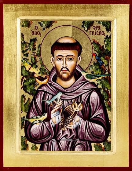 Ikona Święty Franciszek średnia