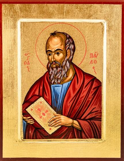 Ikona Święty Paweł Apostoł / niebieski