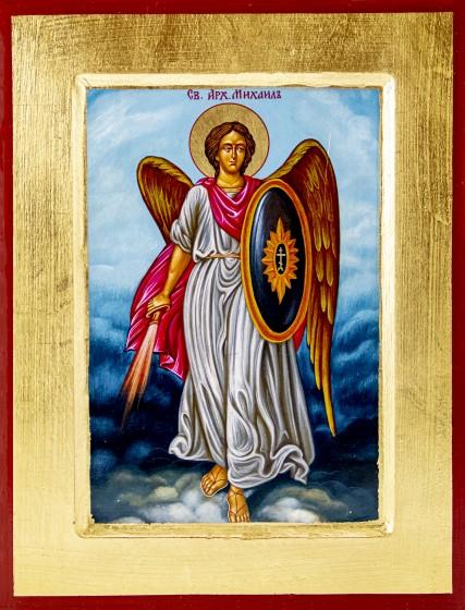 Ikona Święty Michał Archanioł / tarcza duża