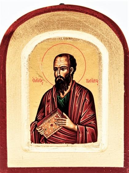 Ikona Święty Paweł Apostoł zaokrąglona bardzo mała