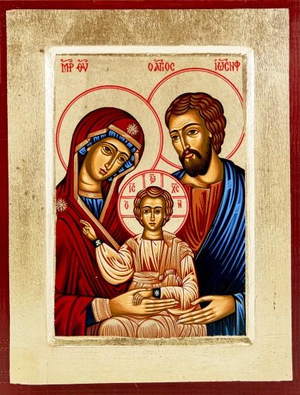 Ikona Święta Rodzina niebieska 2 średnia