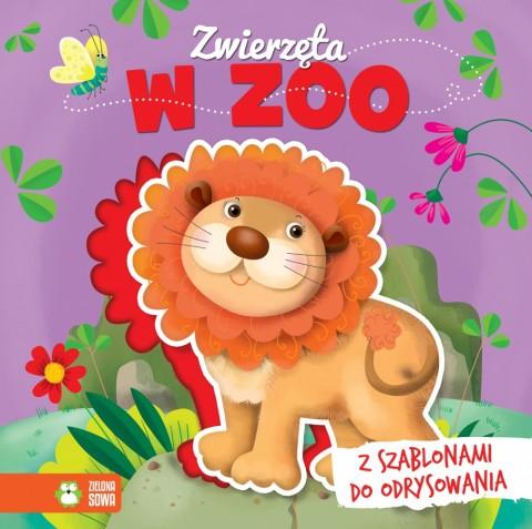 Zwierzęta w zoo z szablonami do odrysowania