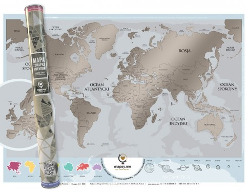 Mapa Zdrapka świata Premium©