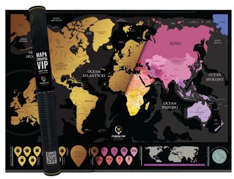 Mapa Zdrapka świata VIP©