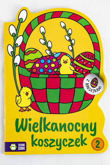 Wielkanocny koszyczek 2 Kolorowanki z naklejkami