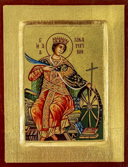 Ikona Święta Katarzyna z kołem