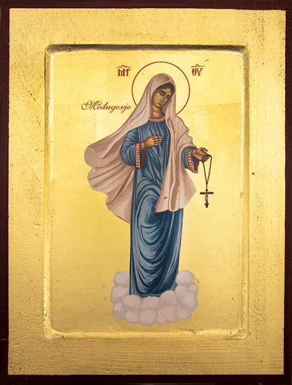 Ikona Matka Boża z Medjugorie średnia