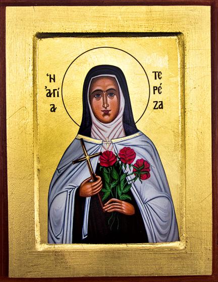 Ikona Święta Teresa z Lisieux średnia